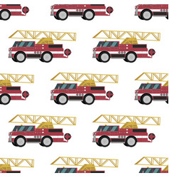 image pattern groups red fire trucks vector image