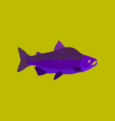 In flat style pink salmon vector