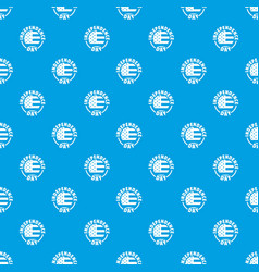 independence day pattern seamless blue vector image