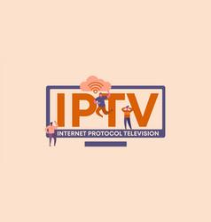 Iptv internet protocol television global media vector