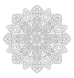 Mandala coloring book vector