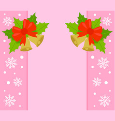 New year and christmas background card pink vector