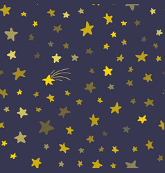 night sky seamless pattern vector image