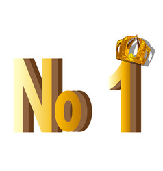 Number one on white vector