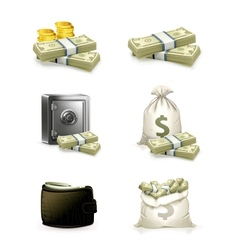 Paper money set vector image