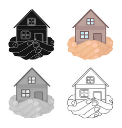 property donation icon in cartoon style isolated vector image