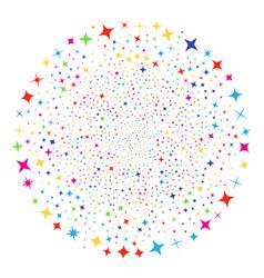 shine stars festive spheric cluster vector image