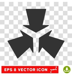 Shrink Arrows Round Eps Icon vector