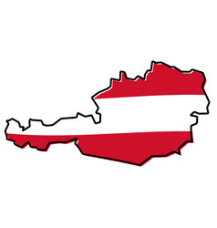 simplified map of austria outline with slightly vector image