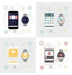 Smartphone and Smart Watch vector