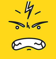smile icon template design angry emoticon vector image