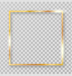 Square golden clipart frame vector