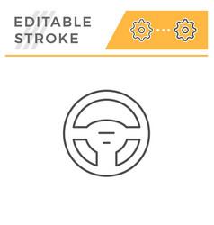 Steering wheel line icon vector