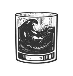 Storm in glass sketch vector