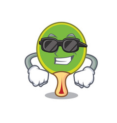 Super cool ping pong racket character cartoon vector