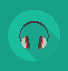 Technology flat icon headphones vector