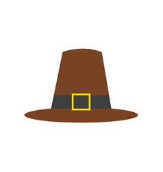 Thanksgiving pilgrim brown hat vector