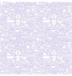 Thin line bawhite seamless pattern vector