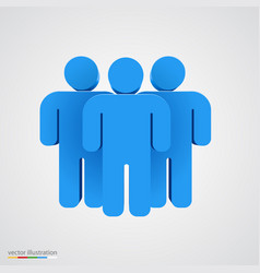 Three-dimensional people group teamwork concept vector