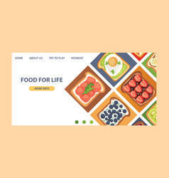 Toast landing page sandwich healthy toasted food vector