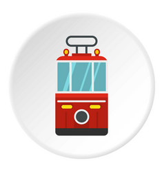 Traditional turkish public tram icon circle vector