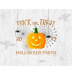 Trick or Treat banner Happy Halloween Poster vector