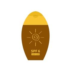 Tube of suntan cream Sun lotion Bottle dispenser vector