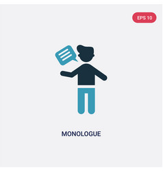 two color monologue icon from people concept vector image