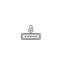 unlocked password icon vector image