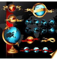 world frames set vector image
