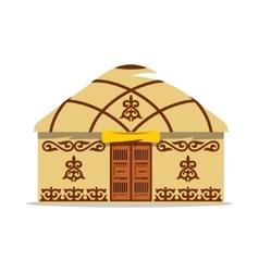 Yurt cartoon house of asian vector