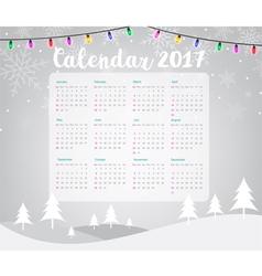 2017 calendar on merry christmas vector