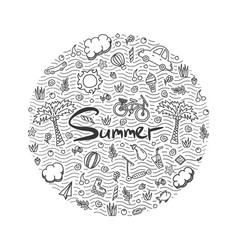 a summer holiday doodle vector image vector image