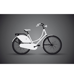 bicycle dark vector image