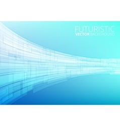 Blue abstract technology vector image vector image