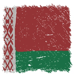 Flag of Belarus handmade square shape vector image vector image