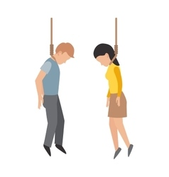 Gallows people vector image