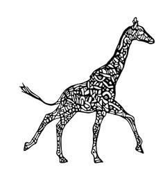 Running giraffe vector image