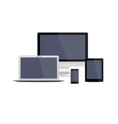 Set of realistic gadget vector image