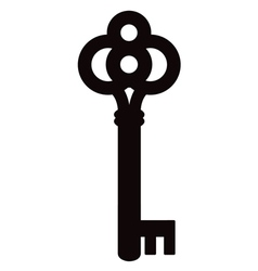 skeleton key silhouette two vector image