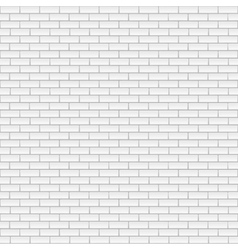 Square white brick wall vector image vector image