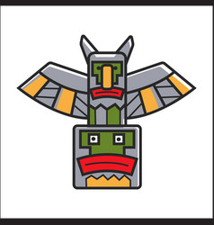 traditional indian totem vector image vector image