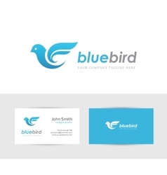 Blue bird logo vector