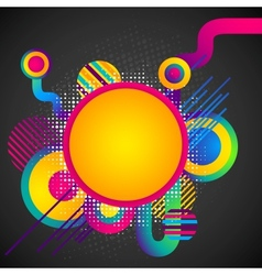 Colorful Circular Background vector image