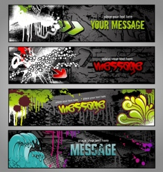 graffiti banners vector image