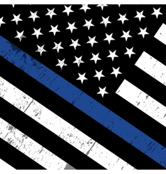 Police Support Flag Background vector image
