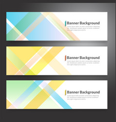 Set of horizon abstract colorful banner vector