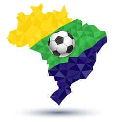 Abstract brazil football vector image vector image