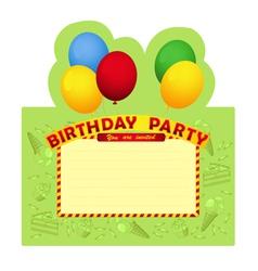 Birthday party inventation card vector image