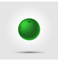 Bowling ball 8 on white background with shadow vector image